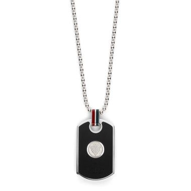 gucci mens dog tag pendant necklace in sterling silver. Black Bedroom Furniture Sets. Home Design Ideas