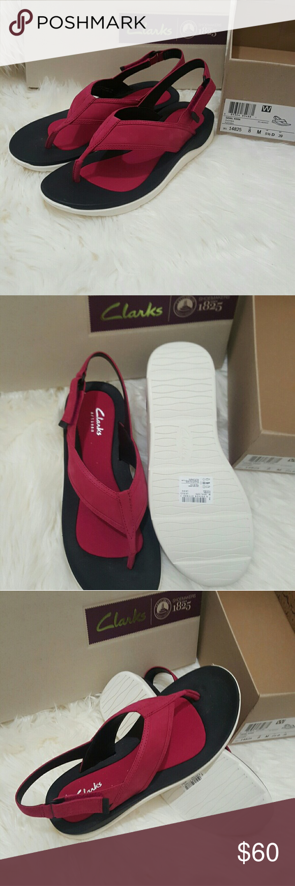 NIB * Clark's Ultra Comfort Strap Sandals* NIB * Clark's Ultra Comfort Strap Sandals * Fuschia Color* Size 8* Amazing comfort* Feel free to Inquire and ask Questions * Reasonable offers accepted * Bundle & Save * Clarks Shoes