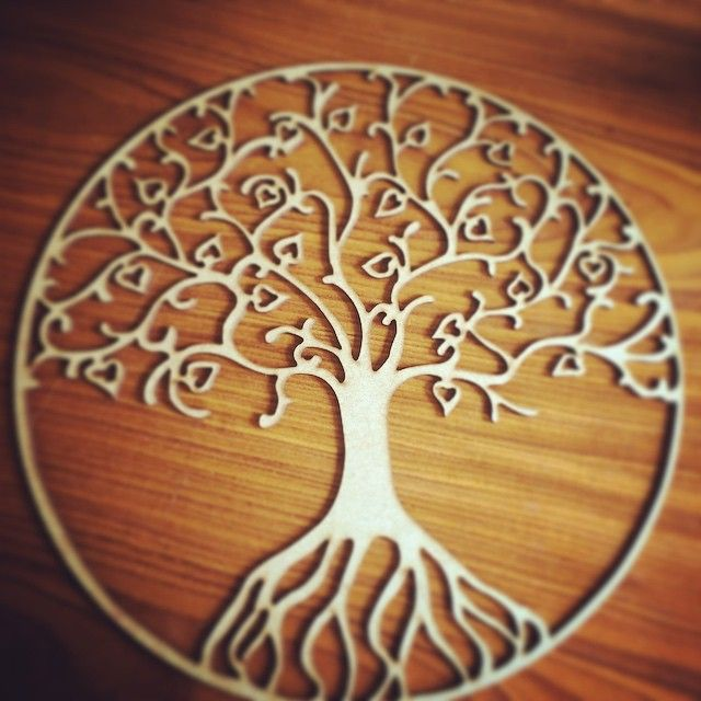 Laser cut tree of life from mm mdf interesting
