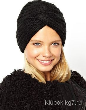 шапка чалма спицами описание вязания и видео руководство вязание
