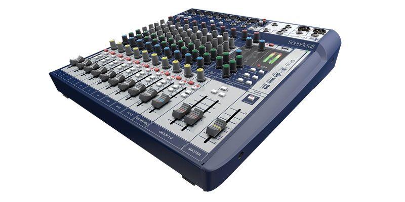 Soundcraft Signature 12 Mixer W 8 Mic Inputs Music Venue Professional Audio Drum Room