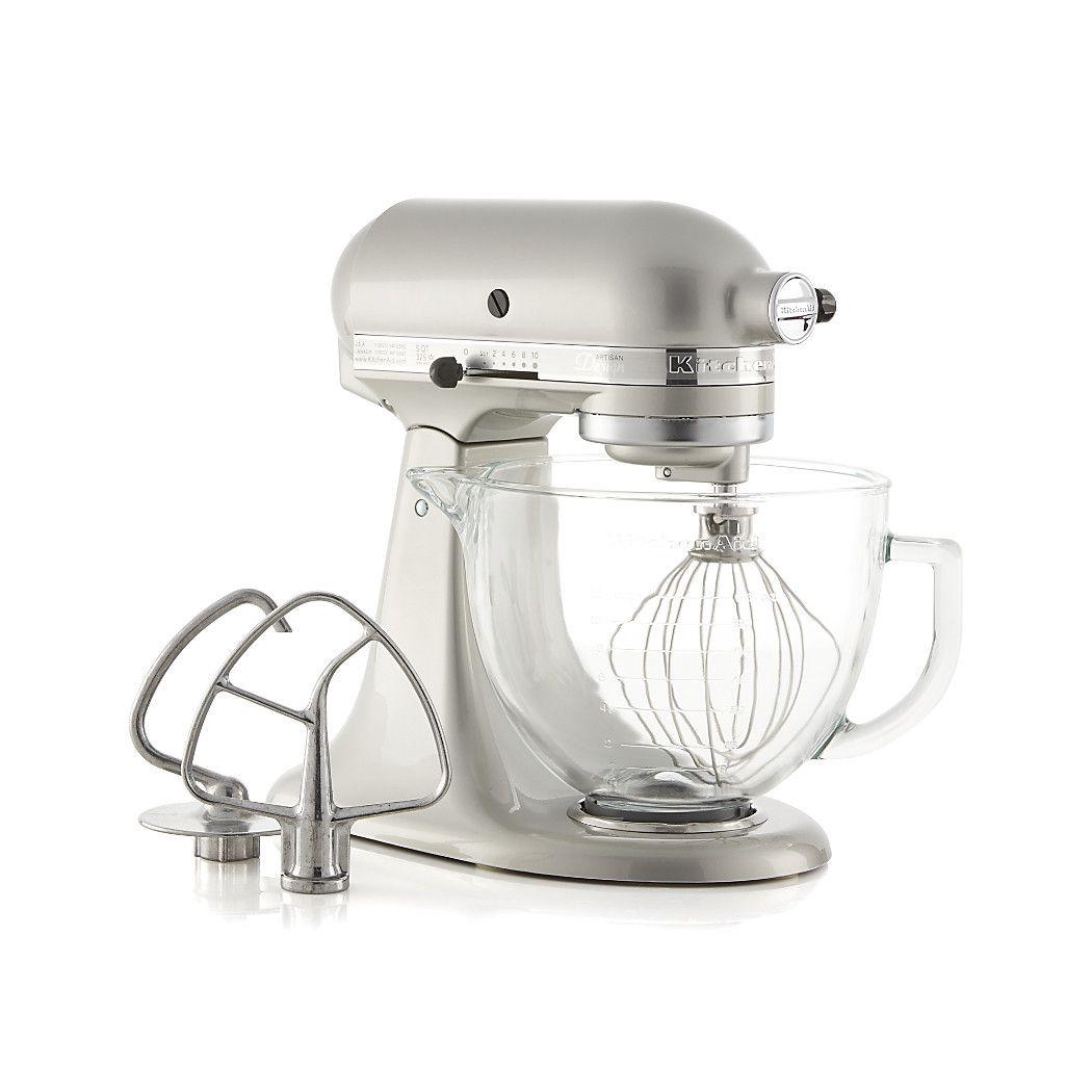 Shop KitchenAid ® Artisan ® Design Series Sugar Pearl Silver Stand Mixer.