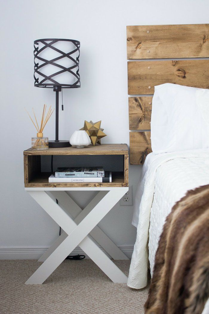 Wohnideen Schlafzimmer Diy diy ideen bettkopfteil nachttisch schlafzimmer zimmer