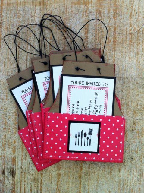 creative invitations for cooking themed bridal showers weddingomania