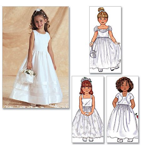 Childrens and Girls Jacket and Dress Butterick Pattern 3351.