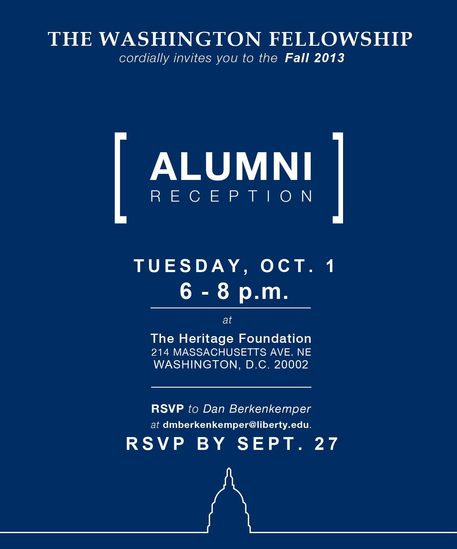 Fall 2013 Alumni Reception Invitation Washington Fellowship Events