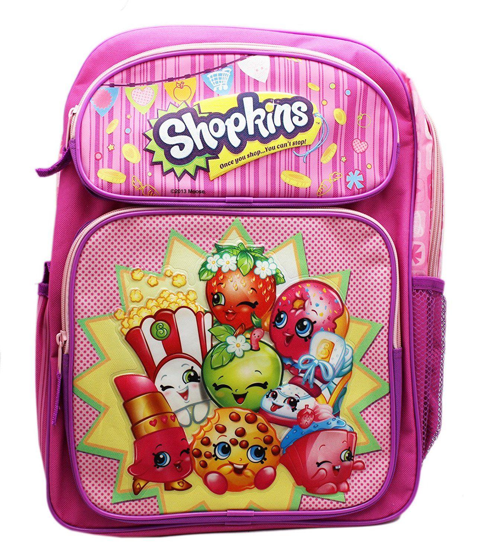 """Shopkins Backpack 16/"""" Large School backpack NEW Licensed Girl Bag NEW!"""