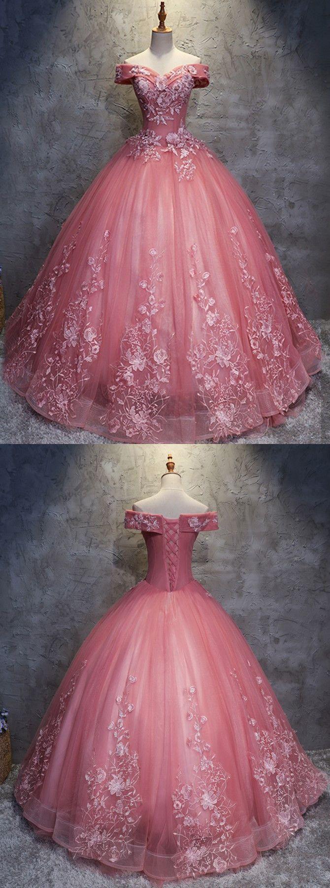 Ballkleid Off-die-Schulter Wassermelone Tüll Hochzeitskleid mit