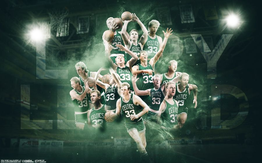 New wallpaper of Boston Celtics and NBA legend Larry