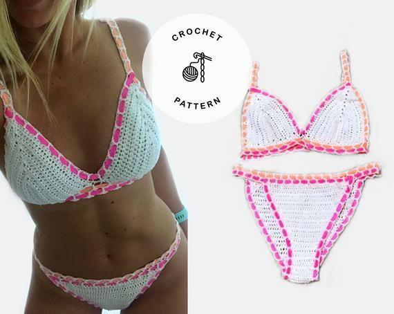 Vibrant Crochet Bikini Pattern - Crochet bikini top - Crochet bikini bottoms #crochetbikinibottoms Vibrant Crochet Bikini Pattern - Crochet bikini top - Crochet bikini bottoms #crochetbikinibottoms