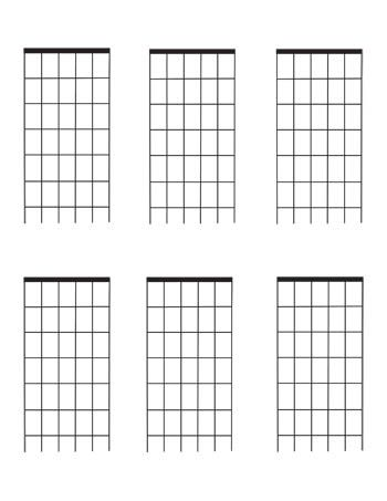 photograph regarding Guitar Fretboard Diagram Printable named Guitar Fretboard diagrams: 6 Get worried blank template 6 for each