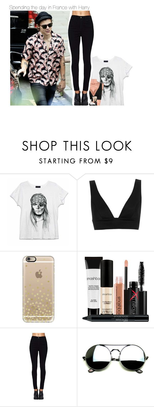 """""""Spending the day in France with Harry"""" by talitastyles ❤ liked on Polyvore featuring Topshop, Casetify and Smashbox"""