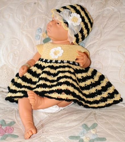 Cute bumble bee dress (also shows it made as a lady bug). Free ...