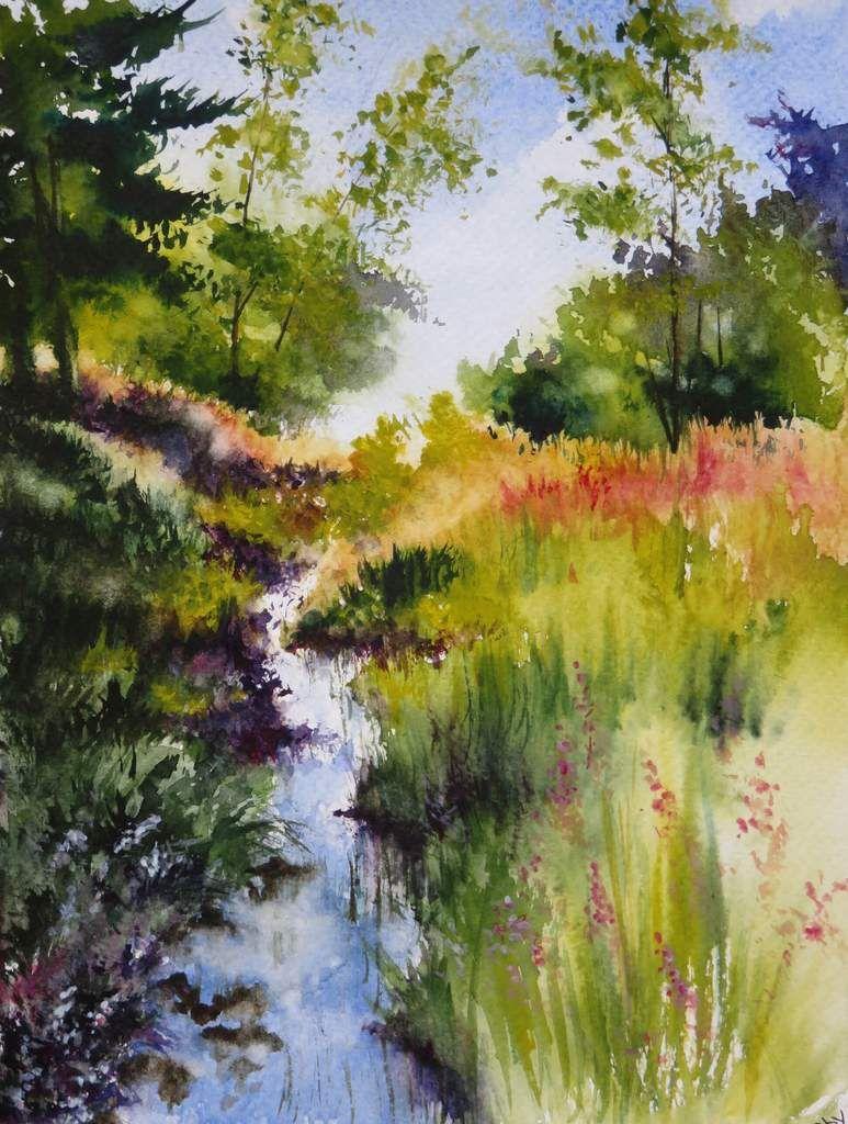 Petits Paysages 18x24 Cm 25 Euros Watercolor Landscape