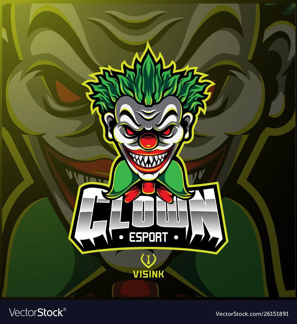 Illustration of Clown sport mascot logo design. Download a