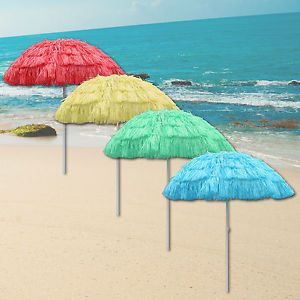 Outdoor Garden Hawaiian Parasol Beach Umbrella Tilting Sunshade Patio Hawaii  NEW | EBay