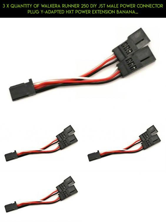 3 x Quantity of Walkera Runner 250 DIY JST Male Power Connector Plug ...