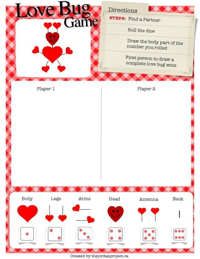 valentines day game for kids love bug game - Valentines Day Game