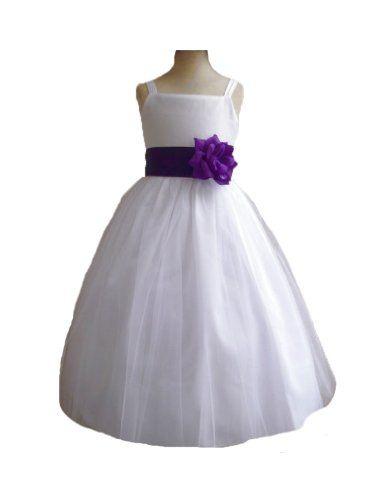 Classykidzshop white satin flower girl dress with purple sash 4t classykidzshop white satin flower girl dress with purple sash 4t classykidzshophttp mightylinksfo Gallery
