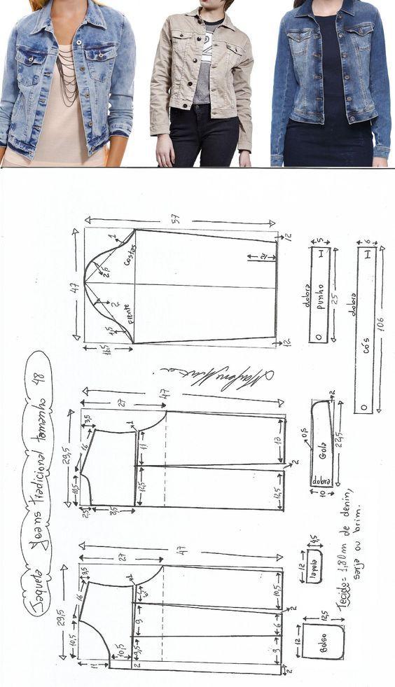 Campera | DIY // COSTURA | Sewing, Sewing patterns y Jacket pattern