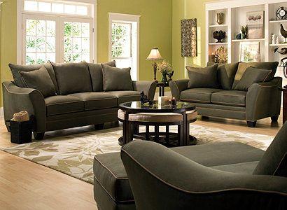 Briarwood Microfiber Living Room Collection #RaymourandFlanigan