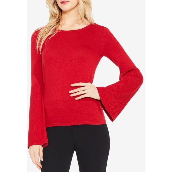 7e80c3b848b4e6 Vince Camuto Bell-Sleeve Sweater ( 53) ❤ liked on Polyvore featuring tops
