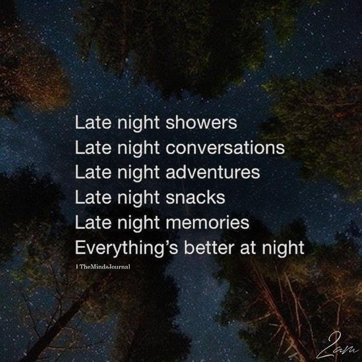 Late Night Showers