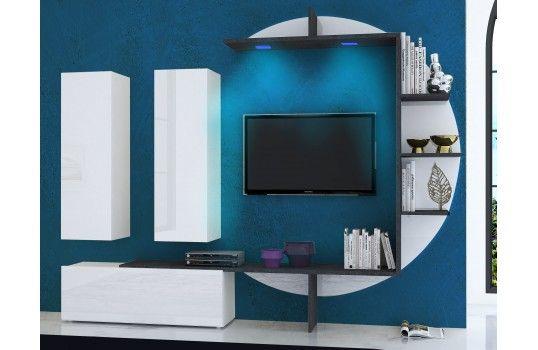 Meuble TV mural design lumineux Zen Salons