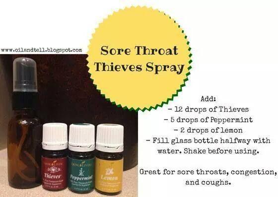 sore throat spray - young living oils   oils   Essential oils