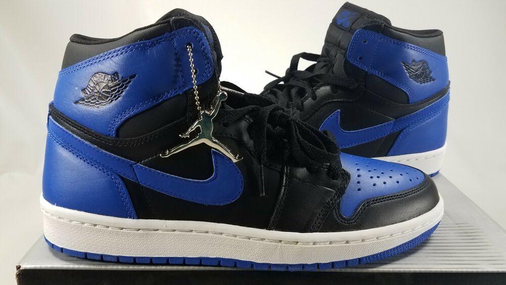 6ba476c5136c eBay  Sponsored Rare 2001 Air Jordan 1 Retro Black Royal Blue 136066041 Sz  9 NIB Free SH!J8