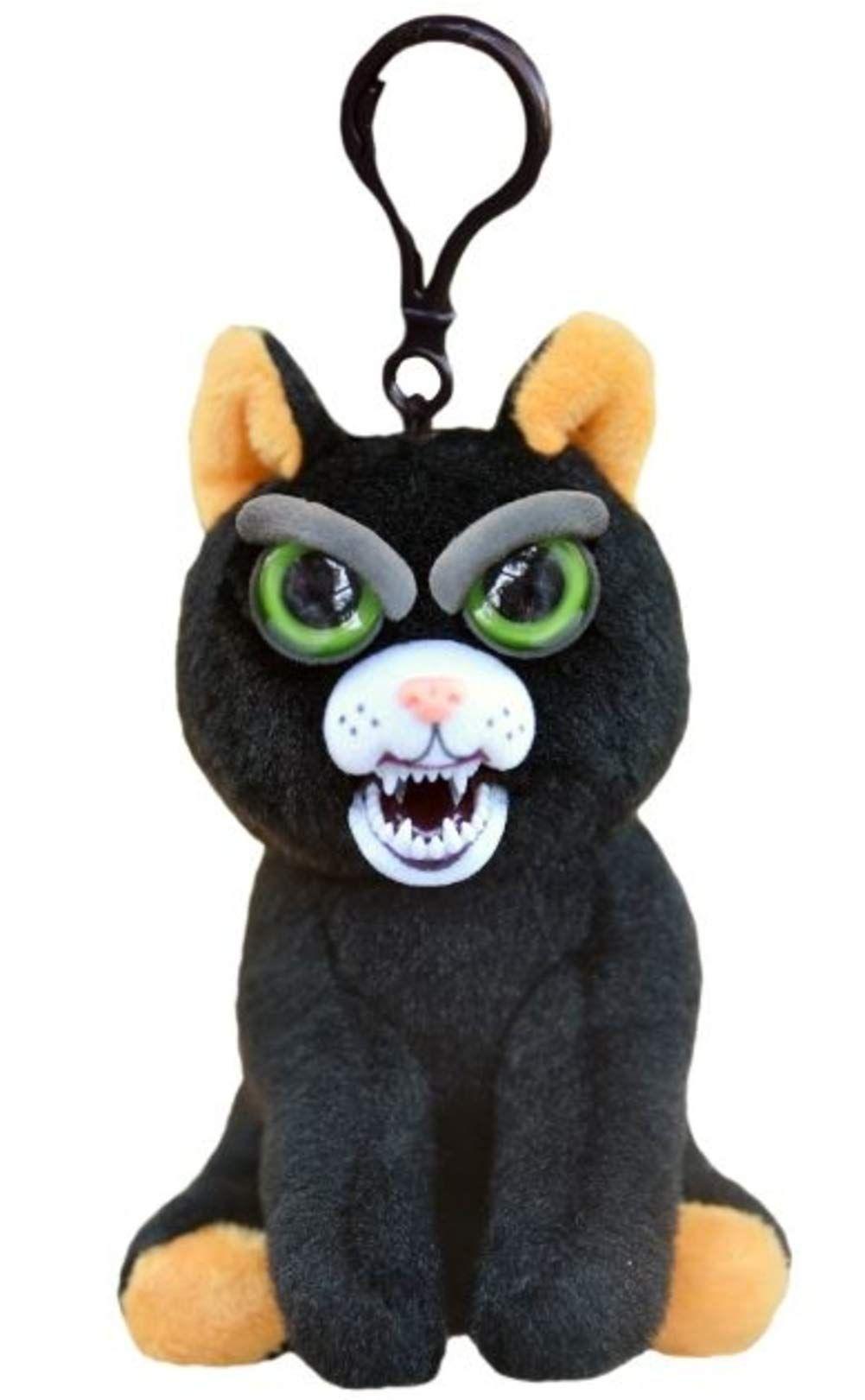 Feisty Pets Mini Black Cat Katy Cobweb Stuffed Attitude Plush