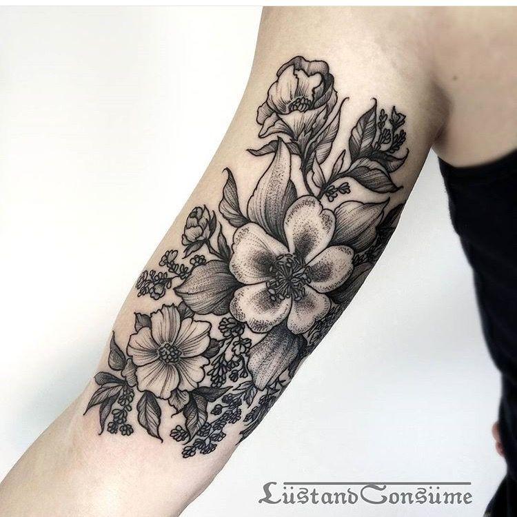 Flower Tattoo On The Inner Forearm Tattoo Artist Doy: Flower Tattoos, Sleeve Tattoos, Tattoos