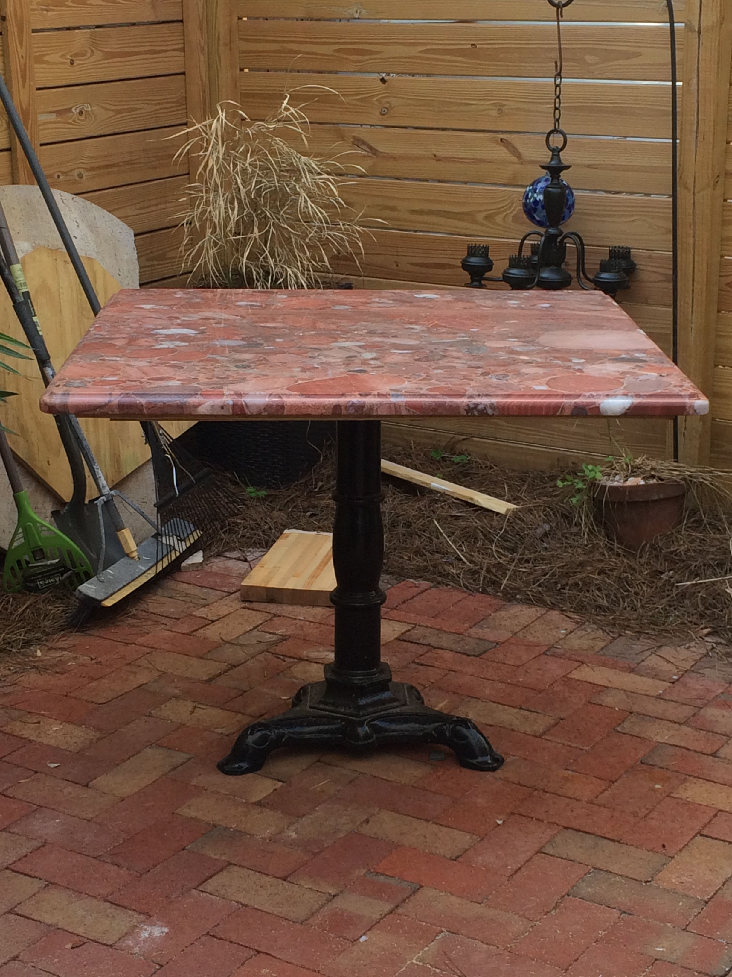 Granite Top From Somebody Else S Coffee Table Attached To A Cast