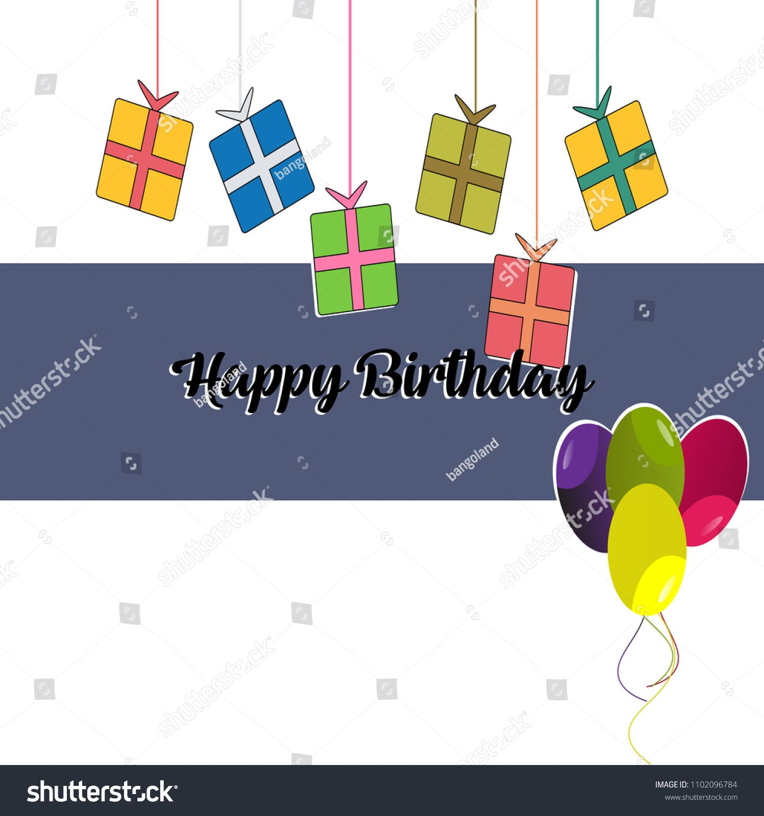 Happy Birthday Vector Illustration Design For Greeting Cards