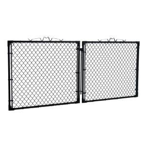 Yardgard 10 Ft W X 4 Ft H Black Drive Through Steel Gate Gda1048pbl The Home Depot Steel Gate The Home Depot Gate Hardware
