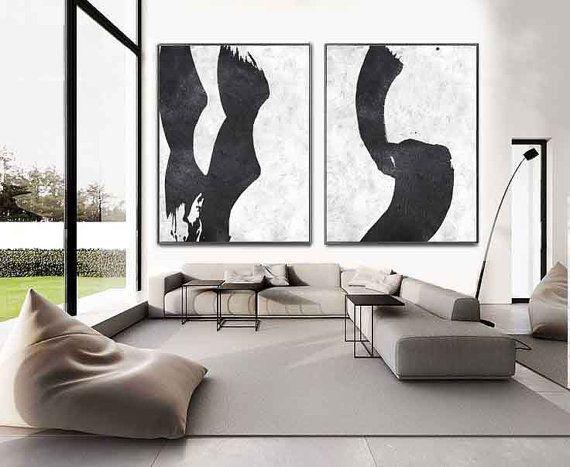 Set of 2 minimal art s1 kunstw nde leinwand und for Minimal art kunst