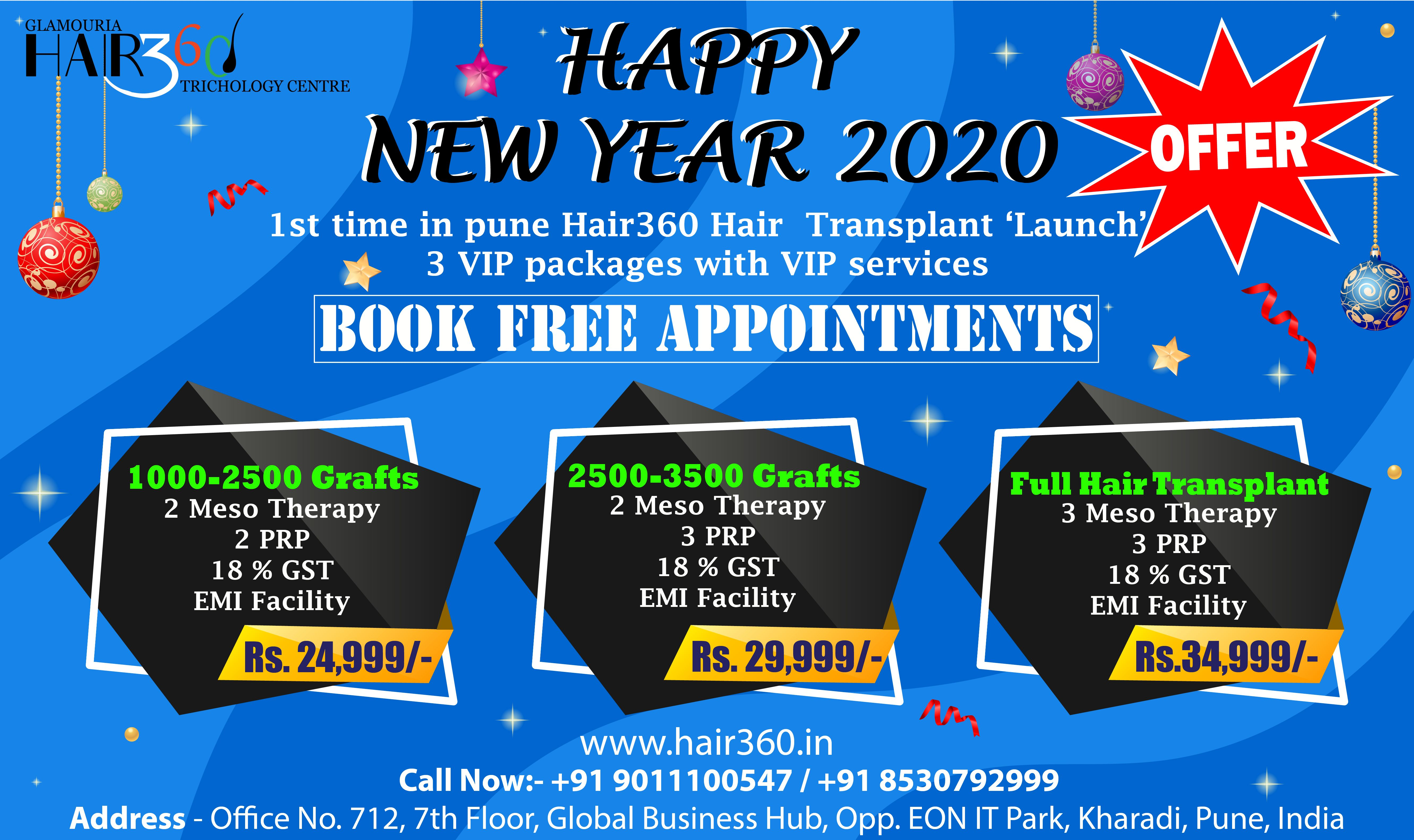 1st Time in Pune GLAMOURIA HAIR360 Hair Transplant 'Launch