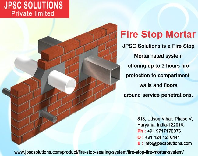 Firestop Mortar Included A Restrictive Mix Of Gypsum And Bond Cfs01 Mortar Is Composed Considering Establishment Comfort Our Var Mortar Fire Fire Protection