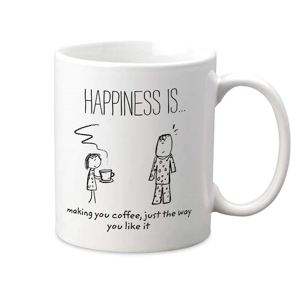 Buy Shark IND Happiness is Making Coffee Ceramic Mug