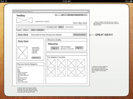 imockups for ipad gives designers and developers with the ability to quickly draft wireframes for their - Wireframe Ipad