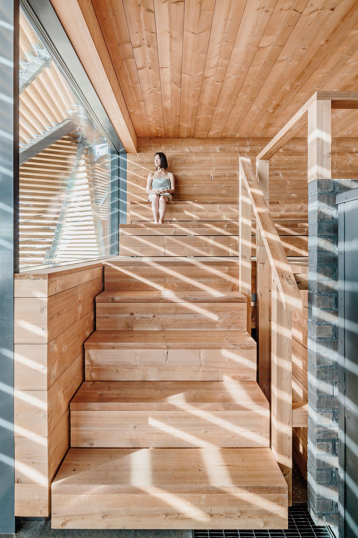 Holzerner Fels Loyly Sauna In Helsinki Architekt Haus Architektur Sauna