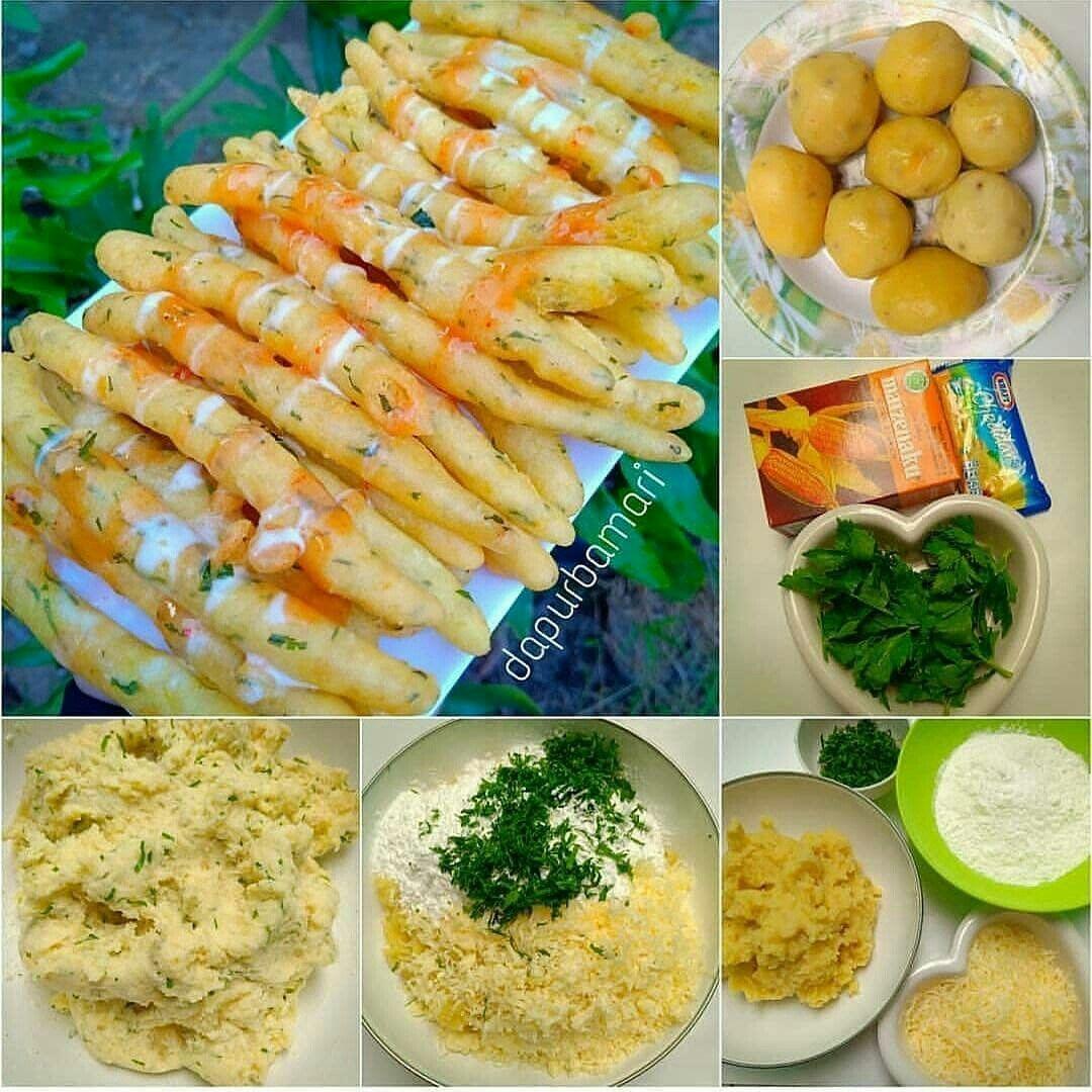 Resep Stik Kentang Keju Makanan Kentang Resep