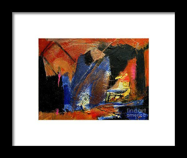 Acrylic Framed Print featuring the painting Healing 2 by Janis Kirstein