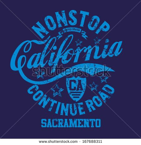 California Retro Route 66 Vector Art - 167688311 : Shutterstock
