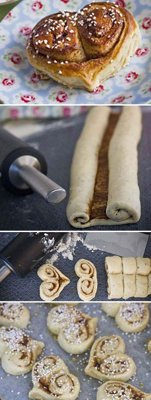 Cuoricini di pastasfoglia alla nutella