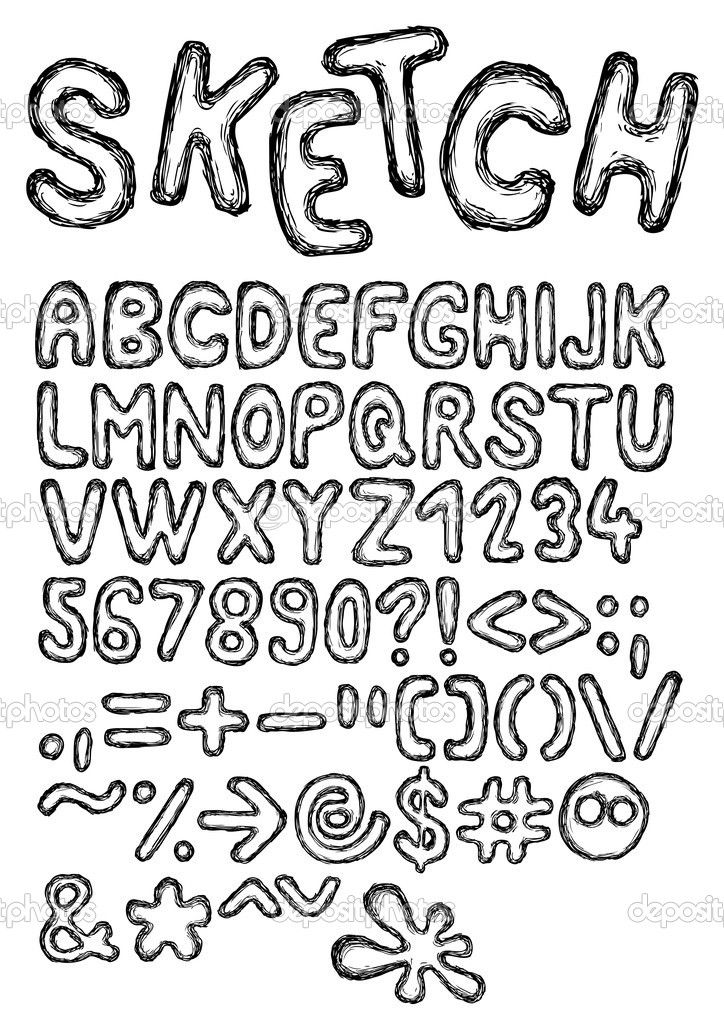 Hand Drawn And Sketched Font Doodle Style