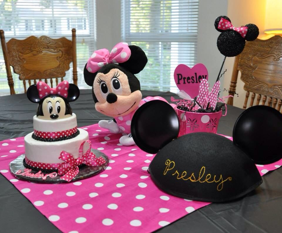 From my little girls Minnie Mouse first birthday party