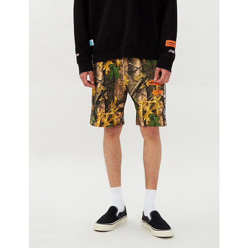 2cf710e9578f8 A BATHING APE FOREST CAMOUFLAGE-PRINT REGULAR-FIT COTTON-JERSEY SHORTS. #