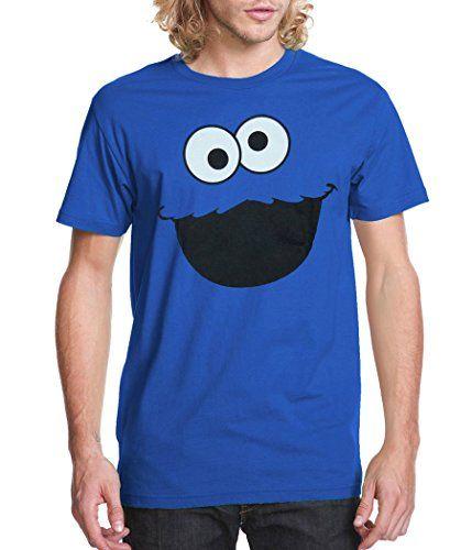 6433afa1 Sesame Street Cookie Monster Face Adult T-Shirt-Large Sesame Street http:/