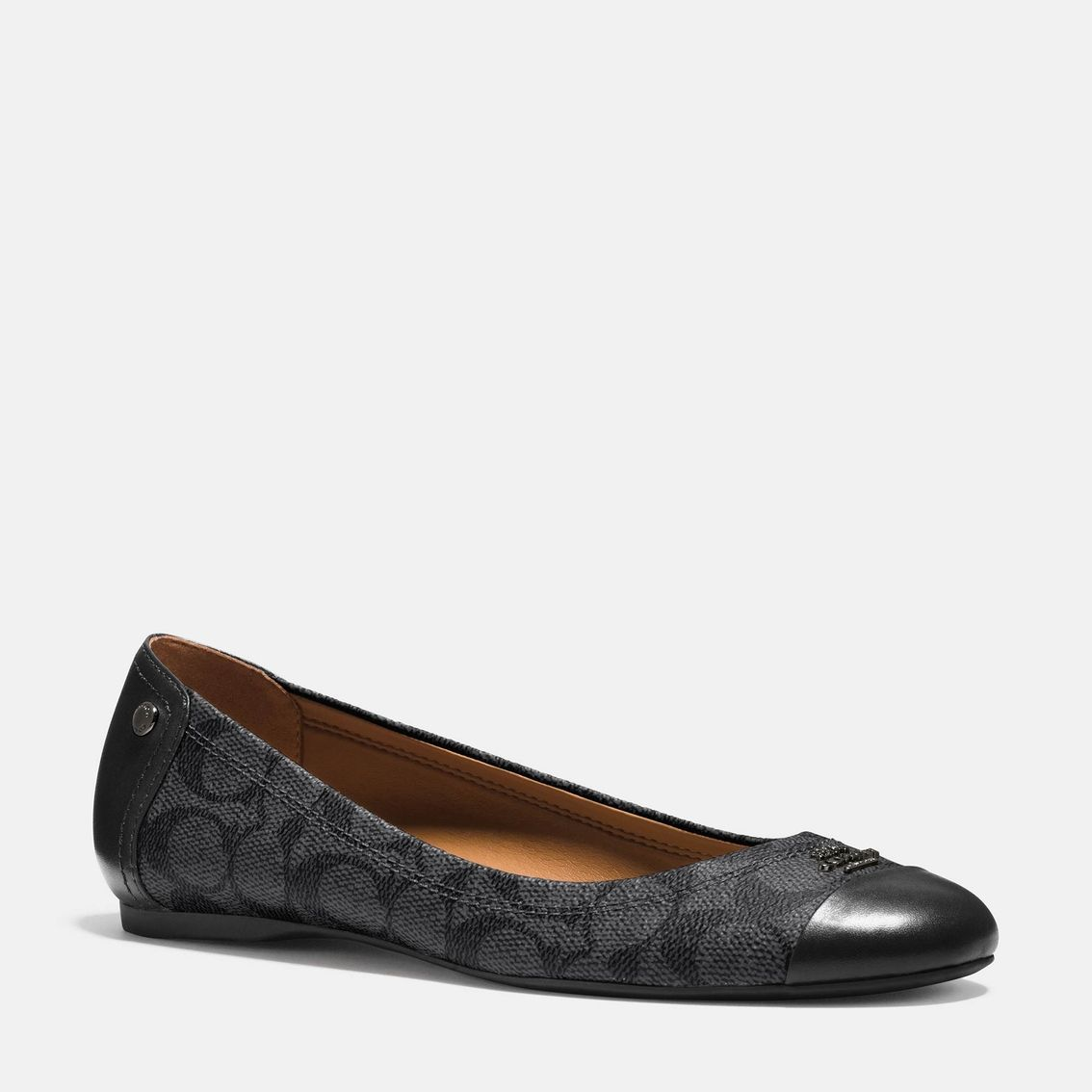 The COACH Signature C pattern on the Chelsea Ballet Flat gives the ...